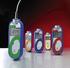 Przenośny termometr elektroniczny dostarczany z penetracyjną sondą termistorową, wyświetlacz LCD, konektor Jack, zakres pomiaru -40 do +125 C, długość przewodu 0.5m,  powłoka antybakteryjna BioCote, różna kolory termometrów dla procedur HACCP (COMARK)
