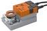 Siłownik obrotowy bez sprężyny typ NM24A-S. Moment obrotowy 10 Nm; czas ruchu 150s; kąt obrotu 95º; IP 54; napięcie znamionowe 24 V AC/DC; pobór mocy 3,5 VA. Sterowanie zamknij/otwórz lub 3-punktowe, zintegrowany styk pomocniczy. (Belimo)
