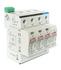 Ogranicznik RPBC-50/280/3N klasa I/B+C, 1-polowy, Iimp - 50 kA, wymienna wkładka, warystor+iskiernik (Relpol)