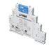 """Przekaźnik interfejsowy wąskoprofilowy PIR6W-1PS-6VDC-T 1Z - jedno wyjście triakowe 1 A. Szerokość 6,2 mm. Zaciski śrubowe. Wyjście (wymienne - przekaźnik RSR30, oznaczenie w kodzie """"T""""): triak 1Z - zaciski: (+)13-14; AC1 - 1 A / 240 V. Wejście - zacis… (Relpol)"""