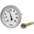 Termometr bimetaliczny model 46 fi=63 mm, zakres 0...60 °C, długość czujnika 40 mm, przyłącze osłony G1/2B, obudowa stalowa (WIKA)